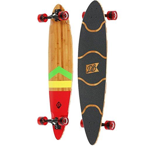 "DB Longboards Anthem Rasta 42-Inch Pintail Longboard, 26.5"""