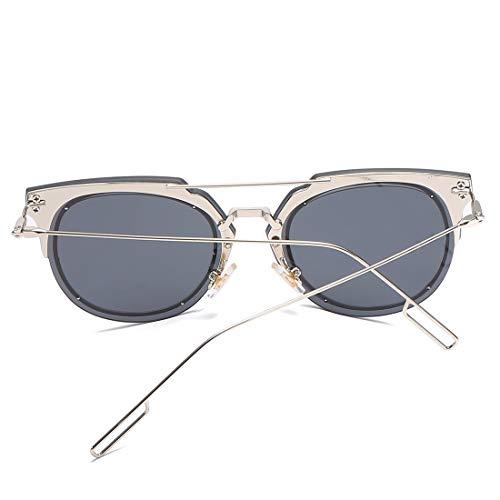 Sakuldes Blue Lens Femmes 100 de pour Color Frame Frame Lunettes et Silver Soleil Gray Lens polarisées Black Hommes UV400 Protection 1SA61wqr