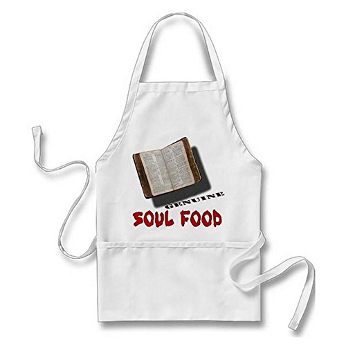 Julyou Soul Food Apron for Women Men, White by Julyou