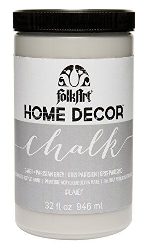 (FolkArt 34881 Home Decor Chalk Furniture & Craft Paint in Assorted Colors, 32 ounce, Parisian Grey)