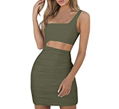 Amazon.com: Sexy Mini Dress Womens One-Shoulder Sleeveless Evening Party Dress Bodycon Dresses Toponly: Appliances