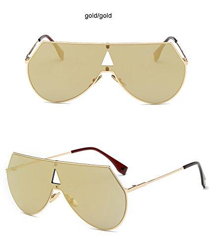 hombre de Steampunk para sol Cool de dorado y Clear Aprigy plateado Gold gafas Gafas Fashion sol Gold Gold color zFn40q