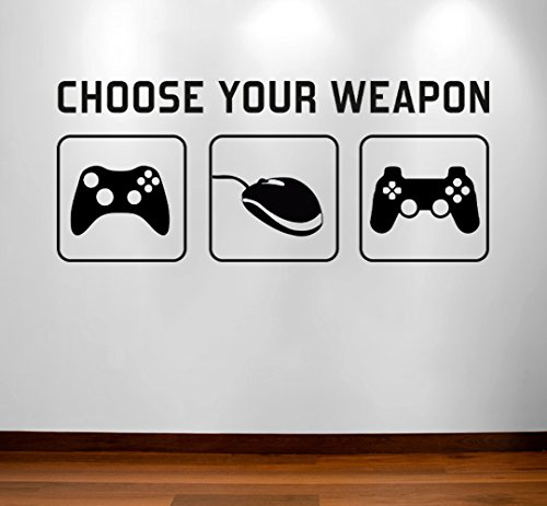 Radecal Choose Your Weapon Video Game Gaming Vinyl Decal Wall Sticker Mural Kids Children Boys