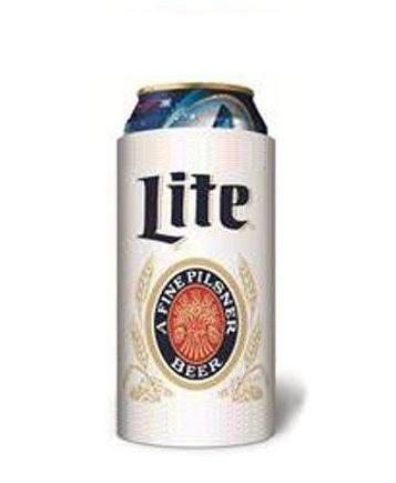 - Miller Lite Throwback Vintage 16oz Beer Can Cooler Holder Kaddy Coolie Huggie