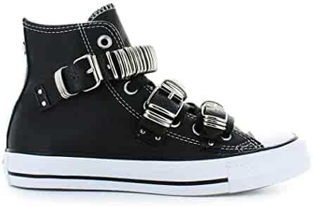 c4c503452dac Converse Women s Shoes All Star Black Punk Metal Buckle Sneaker Fall Winter  2019