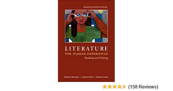 Amazon literature the human experience shorter edition amazon literature the human experience shorter edition reading and writing 0884384466559 richard abcarian marvin klotz samuel cohen books fandeluxe Images