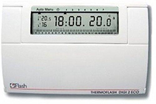56130 - flash (hager italia) cronotermostato pared blanca