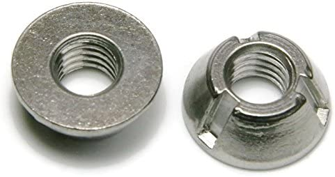 Tri-Groove Tamper Proof Security Nuts 316 Stainless Steel 1//4-20 QTY 25