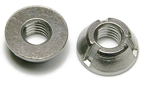 Tri-Groove Tamper Proof Security Nuts 316 Stainless Steel 3/8''-16 - Qty 25 by RAW PRODUCTS CORP
