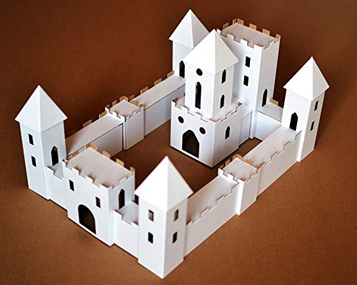 Putz Glitter Style Castle DIY Unassembled Cardboard putz House Style Castle Make Your own Decorative Castle for $<!--$14.51-->