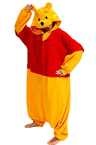 Sweetdresses Adult Unisex Animal Sleepsuit Kigurumi Cosplay Costume Pajamas (Medium, Winnie -