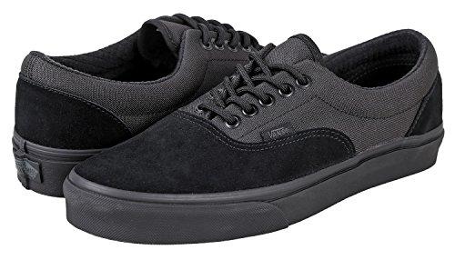 Vans Herren Ära (Suede & Suiting) Skateboard Schuhe Schwarzes Mono