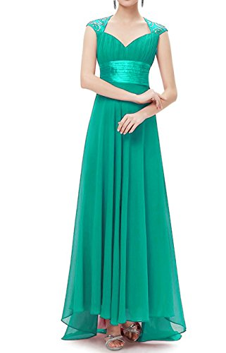 Gown Formal Long Chiffon Bridesmaid Dress DKBridal Turquoise Neck Sequined Women's Scoop Prom Evening IxqWH0S4w