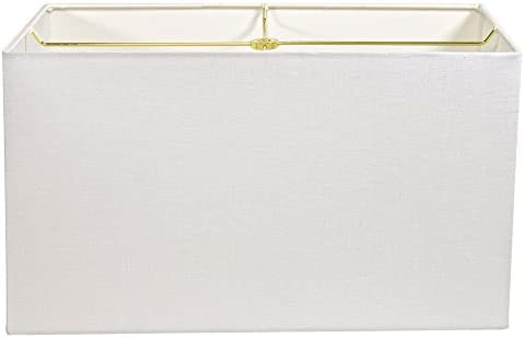 White Linen Rectangle Lampshade – 17