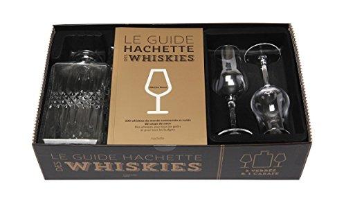 Le guide Hachette des whiskies : Coffret livre + 2 verres + 1 carafe