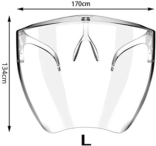 L Face Cover Designed Fashion Style /& Comfort Face Shield