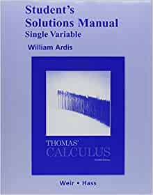 Thomas Calculus 10th Edition Solution Manual