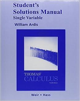 Thomas' Calculus, Single Variable with Student Solutions Manual price comparison at Flipkart, Amazon, Crossword, Uread, Bookadda, Landmark, Homeshop18