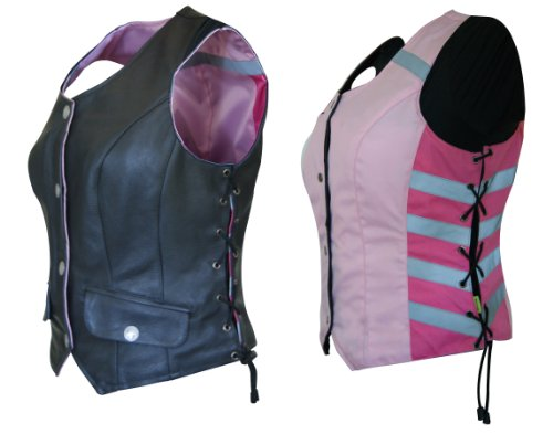 - Missing Link Women's G2 D.O.C. Reversible Safety Vest (Black/Pink, X-Large)