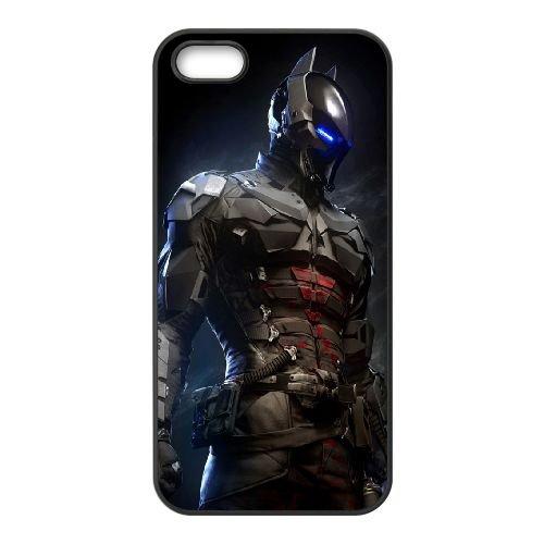Batman Arkham Knight Batsuit coque iPhone 4 4S cellulaire cas coque de téléphone cas téléphone cellulaire noir couvercle EEEXLKNBC23385