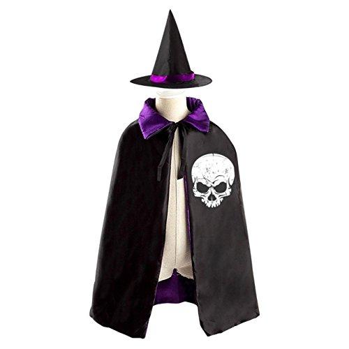 Gnome Costume Diy (A cruel boy Kids Hallowmas Evil skull Black Cloak or Cape with)