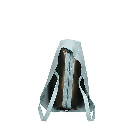 38x30x12 Cm à Chicca Femme fabriqué Ciel en cuir main Sac Italie Borse en véritable 7wRqaPf