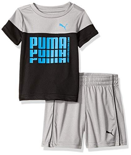 PUMA Baby Boys' T-Shirt & Short Set, Black, 12 Months
