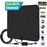 TV Antenna for digital TV Support 4K 1080p HDTV Amplified with High Performance Signal Booster Up to 85 Miles Range with Long 20ft Coax Cable