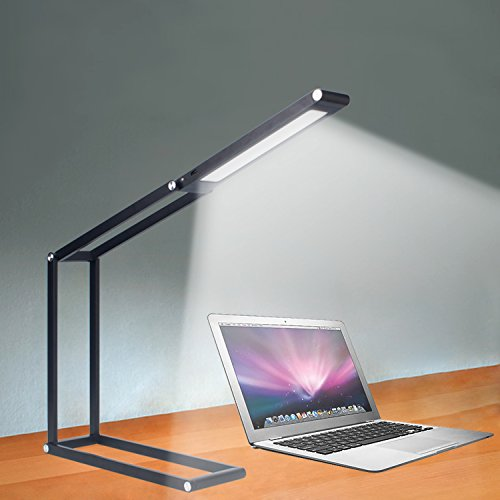 V-5 3W 21-LED 5500-6000K Pure White Light Step-less Dimmable Multifunctional Eye-protection Led Desk Lamp (Black)