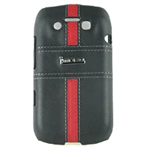 MOBO IM-HMC-HCBB9790-17BR Leather Cell Phone Case for Blackberry 9790 - 1 Pack - Retail Packaging - Black/Red