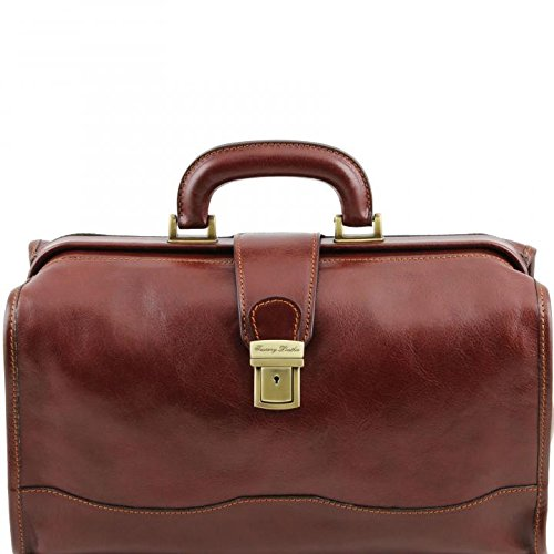 Tuscany Leather Raffaello Doctor leather bag Brown