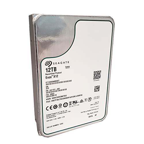Seagate Exos x12 12TB SATA 6Gb/s 256MB Cache Enterprise Hard Drive 3.5in (ST12000NM0007) (Renewed) - Seagate Drives Sas Hard