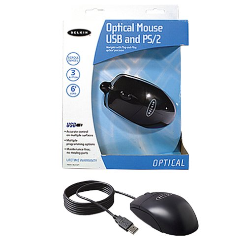 Belkin F8E814 BLK OPT Optical Mouse Black