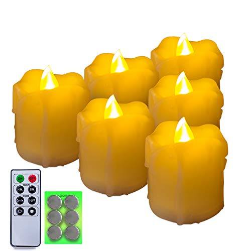 6 Flameless Votive Candles