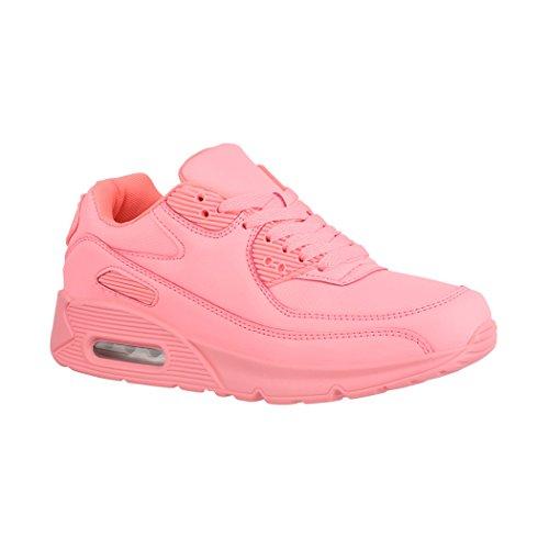 Elara Damen Herren Sneaker | Femmes Espadrille D'hommes Unisex Sport Laufschuhe Turnschuhe Chunkyrayan Pink Barca Unisexe Chaussures De Course Sneakers Rose