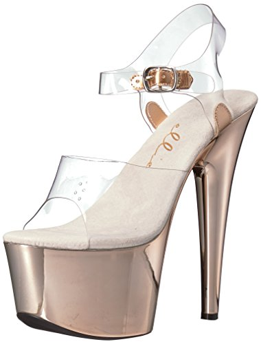 Ellie Shoes Women's 709-bria Platform Sandal, Clear, 8 US/8 M US