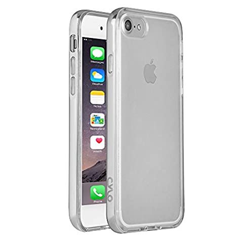 CYLO Metallic Drop-Shield iPhone 7 Bumper Case, Lightweight Dual Protection Against Scratches and Damage, Silicon Inner Case with Aluminum Bumper (Fire Phone Screen Protector Moshi)