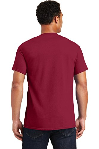 s Double Needle T-Shirt, Cardinal Red, XL (Pack of 5) ()