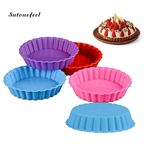 1 piece Silicone Cake Mold 10.82.5cm Round Flower Shape Pan Mousse Bread Free Baking Dessert Mold BPA Tools Cake Decorating ()