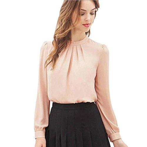 - Women Blouse,Wintialy Women Summer Fold Loose Casual Chiffon Long Sleeve Shirt Tops