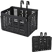 1 PCS Folding Rear Bike Basket Fold-Up Detchable Front Bag Rear Hanging Bike Basket Bicycle Bag Cargo Rack for