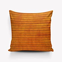 Orange Wood Teal Barn Wood Weathered Beach Polyester Pillow Cover 26x26inch,two sides