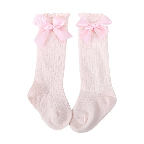 SMALLE ◕‿◕ Clearance,New Kids Toddlers Girls Big Bow Knee High Long Soft Cotton Lace Baby Socks Kids