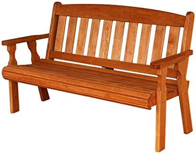 Amish Heavy Duty 800 Lb Mission Pressure Treated Garden Bench 4 Foot