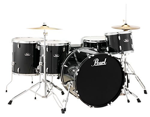 Pearl Roadshow RS525WFC/C31 5-Piece Drum Set, Jet -