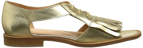 JONAK Damen 2481 Sandalen Gold - Or (Métallisé/Platine)