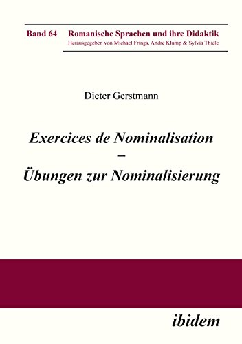 exercices de nominalisation bungen zur nominalisierung im franzsischen romanische sprachen und ihre didaktik t - Nominalisierung Beispiele