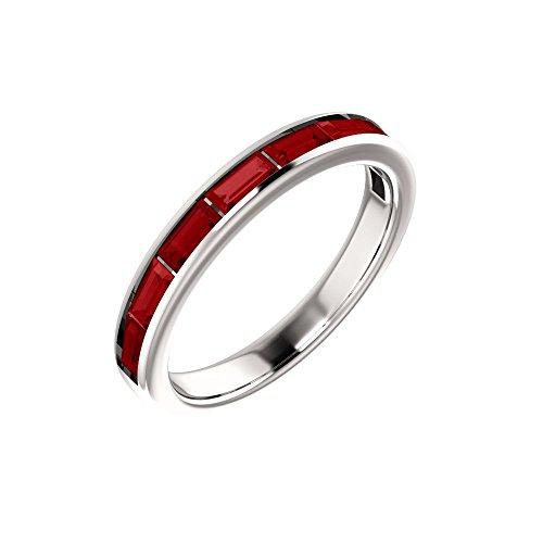 - Bonyak Jewelry Lab-Created Ruby Platinum Chatham Created Ruby Ring - Size 7