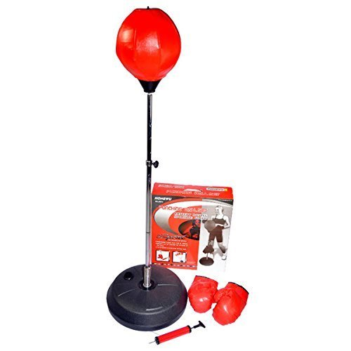 Hongwu Adjustable Free Standing Punching Speed Ball Bag with Boxing Gloves by Hongwu