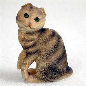 (Scottish Fold, Brown Tabby Tiny Ones Cat Figurines (2 in))